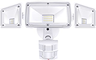 3 Head LED Security Lights Motion Outdoor Motion Sensor Light Outdoor 40W 3500 Lumens..