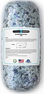 Shredded Memory Foam Fill Replacement for Bean Bags, Chairs, Pillows, Dog Beds, Cushions and Crafts. Made in The USA with 100% CertiPUR-US Certified Foam. (5 Pounds)