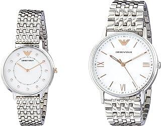 EMPORIO ARMANI Men's AR80014 Year-Round Analog-Digital Quartz Silver Band Watch