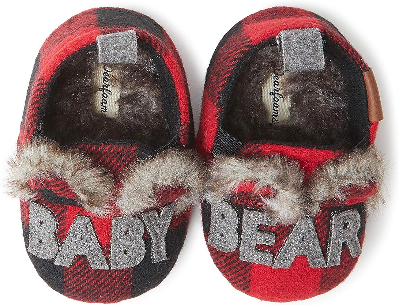 Dearfoams Unisex-Child Buffalo Check Max 54% OFF Closed Beauty products Back Bear Slipper