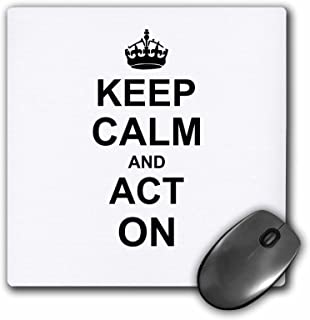 3dRose 8 x 8 x 0 25 Inches Keep Calm and Act on Humorous Gift for an Actor Actress Acting Coach or Theater Drama Teacher M...