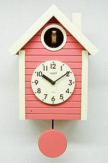 さんてる(Suntel) 掛け時計 コーラルピンク 405×240×140mm 国産 手作り 鳩時計 北欧カラー コーラルピンク SQ03CP