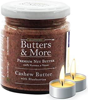 Butters & More Vegan Cashew Butter with Real Blueberries (200G) No Artificial Flavours Or Colour. with a Surprise Diwali G...