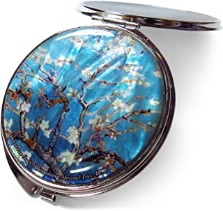 Compact Makeup Mirror Cosmetic Korean Mother of Pearl Lacquered Vincent van Gogh Almond Blossom #27