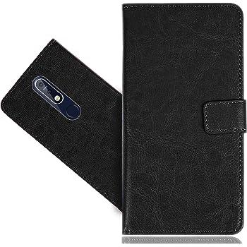 CaseExpert Nokia 7.1 Funda, Wallet Flip Piel Genuina Billetera Carcasa Caso Cover Case Funda de Cuero para Nokia 7.1