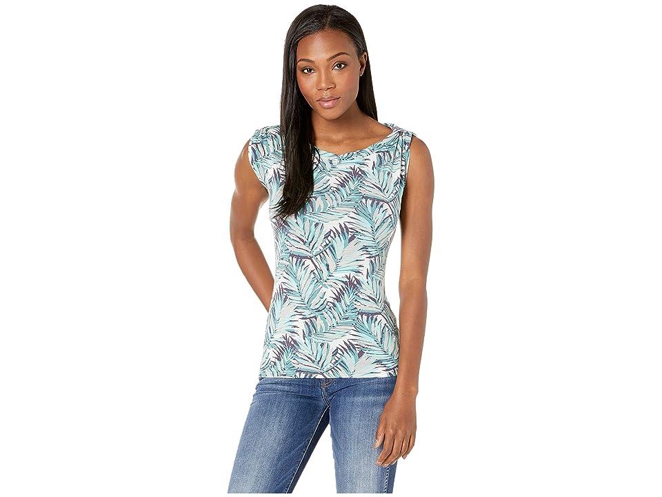 Royal Robbins Noe Twist Print Short Sleeve Top (Aqua Print) Women