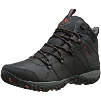 Columbia Mens Peakfreak Venture Mid Waterproof Omni-Heat Boots (Black, Sanguine)