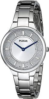 ساعة كوارتز يابانية فضية عرض تناظري PM2129 للسيدات من Pulsar