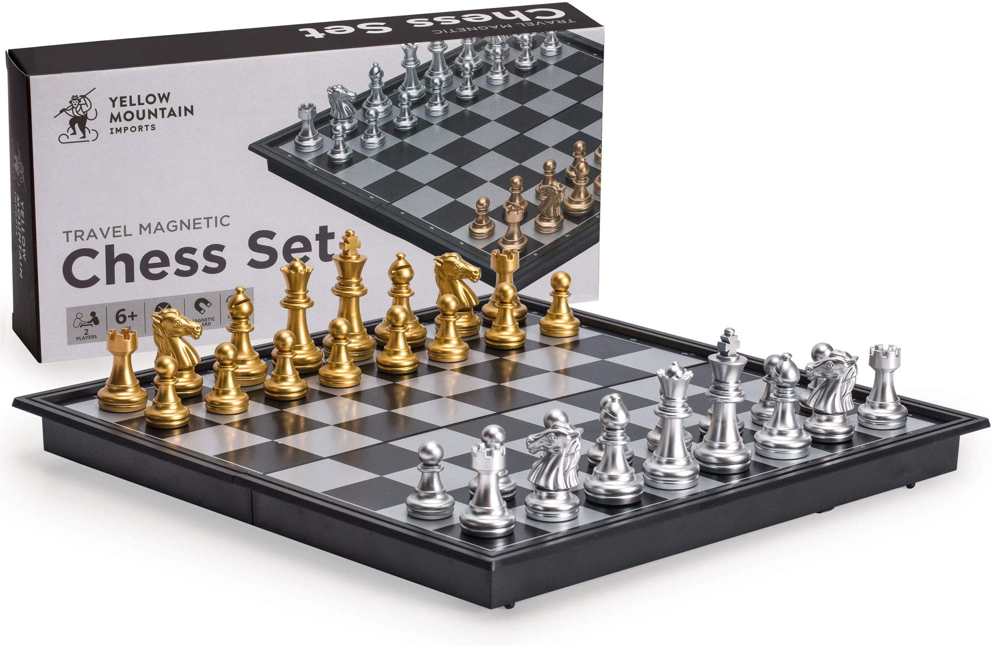 Tournament Chess Set Portable Travel Magnetic Folding Board Box Gift Kids Toy