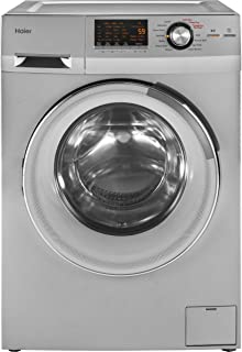 Haier 24-Inch Wide Front Load Washer And Dryer Combination, Silver | HLC1700AXS