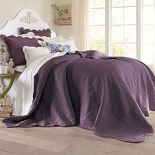 BrylaneHome Florence Oversized Bedspread - King, Plum