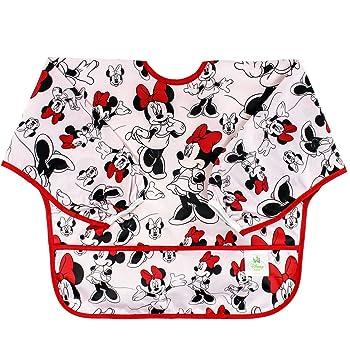 Bumkins Disney Baby Waterproof Sleeved Bib, Minnie Classic, 6 - 24 Meses