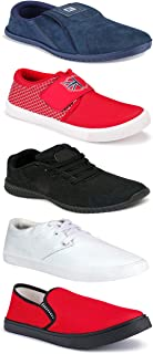 WORLD WEAR FOOTWEAR Sports Running Shoes/Casual/Sneakers/Loafers Shoes for MenMulticolors (Combo-(5)-1219-1221-1140-749-1085)