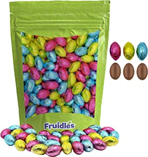 Easter Chocolate Eggs, Multicolored Foil Wrapped Milk Chocolate, Kosher Certified Dairy (90 Count (1 Pound))