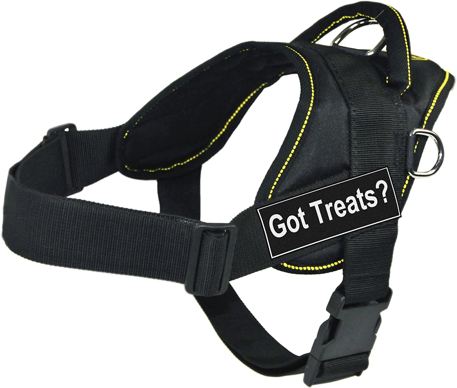 DT Fun Harness Got Treats? Black Trim - Fit With Large famous Ranking TOP7 Yellow