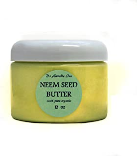 12 Oz Neem Seed Butter Pure Organic Cold Pressed Unrefined Skin Care