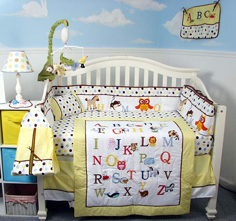SoHo Baby Crib Bedding 10Pc Set Alphabet Zoo