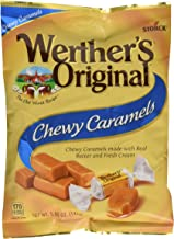 WERTHER'S ORIGINAL Chewy Caramels, 5.0 Ounce Bags (Pack of 12), Bulk Candy, Individually Wrapped Candy Caramels, Caramel Candy Sweets, Bag of Candy