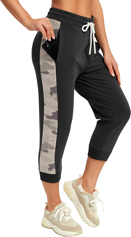 SPECIALMAGIC Capri Indefinitely Sweatpants for Women Jogg Casual Camo service Cropped