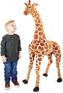 VIAHART Jani The Savannah Giraffe   52 Inch Giant Stuffed Animal Jumbo Plush   Shipping from Texas   by Tiger Tale Toys
