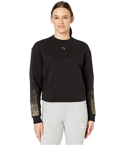 PUMA Holiday Pack Crew Fleece Sweatshirt (Black) Women