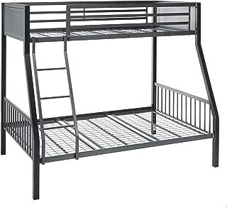 Coaster Home Furnishings Black and Gunmetal Meyers Twin Over Full Metal Bunk Bed
