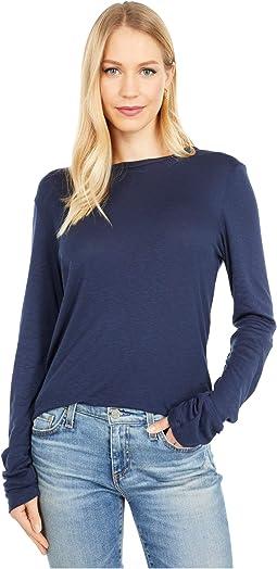 Kristen 1X1 Slub Crew Neck T-Shirt