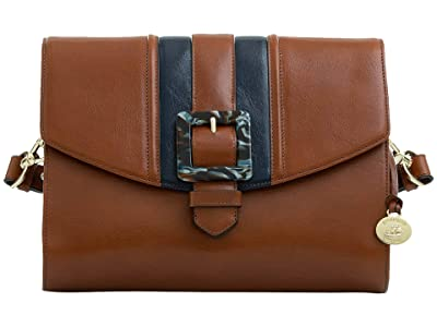Brahmin Jacquelyn Portico Shoulder Bag (Whiskey) Handbags