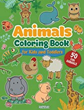 Animals Coloring Book For Kids and Toddlers: 50 Different Animals Including Farm Animals, Jungle Animals, Woodland Animals and Sea Animals (Jumbo ... 2-4, 4-8, Boys and Girls, Fun Early Learning)