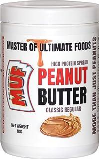 MUF Peanut Butter (Classic Regular) Crunchy   1 KG   HIGH Protein   Vegan