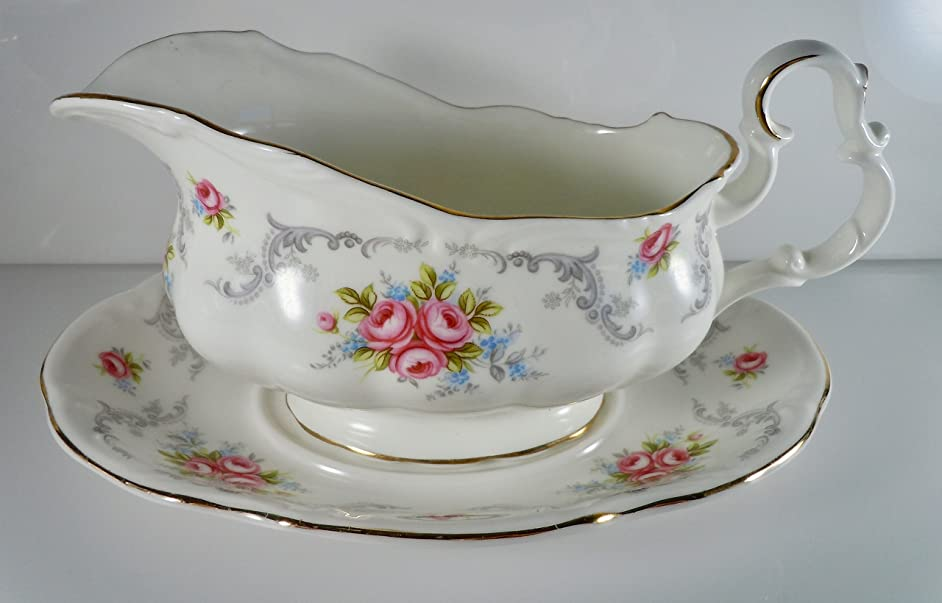 Royal Albert Tranquillity Gravy Boat and Under Plate