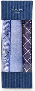 Hackett Men's Cotton Patterned Pocket Square Three Pack Blue