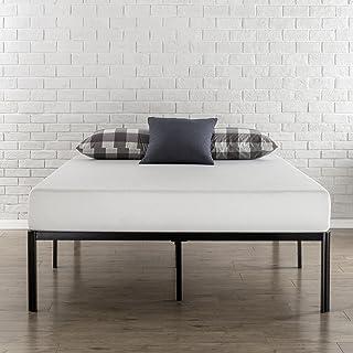 Zinus Bastidor para cama de plataforma de metal con esquinas redondeadas Van de 40,6cm, Base para colchón, Sin necesidad de usar un somier, Cama en caja, Fácil montaje, 90 x 190 cm