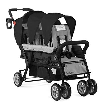 Gaggle Compass 3-Seat Tandem Stroller with Canopy - Travel-friendly