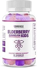Havasu Nutrition Elderberry Gummies for Kids 50mg - Immune System Support - Premium Natural Ingredients - NO Gelatin, NO Fructose Corn Syrup, Gluten Free - Natural Ingredients - 60 Gummys
