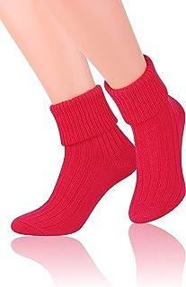 Steven, Calcetines de dormir cálidos para mujer, sin presión, longitud media de la pantorrilla, blanco, EU38-40/UK 5-6.5