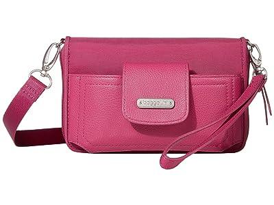 Baggallini New Classic RFID Phone Wallet Crossbody (Deep Fuchsia) Cross Body Handbags