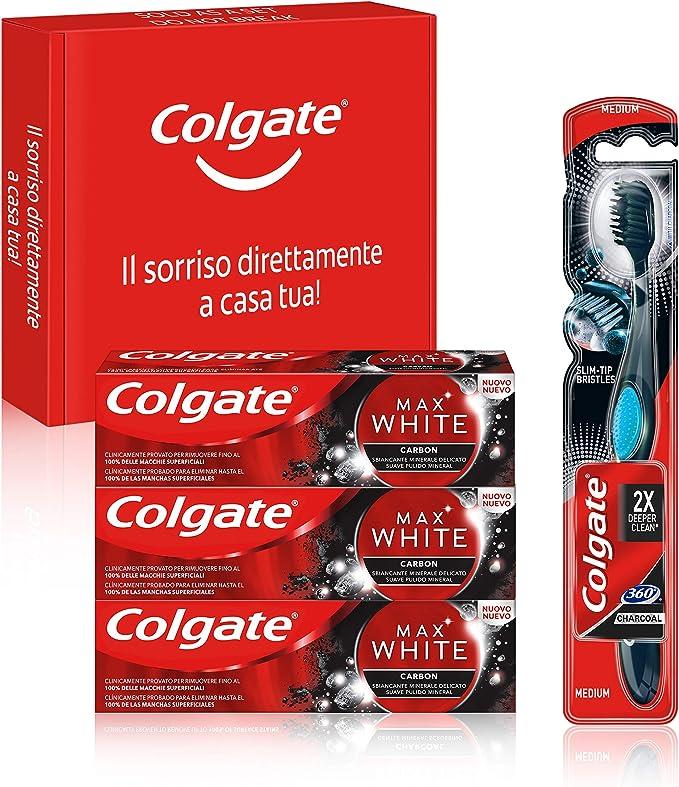 2089 opinioni per Colgate, Kit Sbiancante Al Carbone, Dentifricio Colgate Max White Carbon