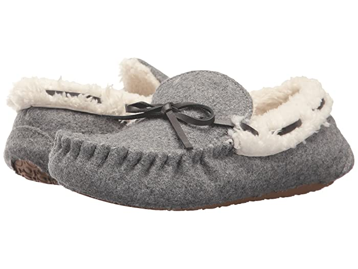 Image of Grey Moccasin Slippers for Boys and Toddler Boys