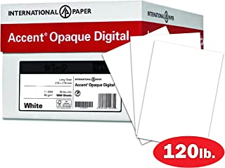 Accent Opaque Thick Cardstock Paper, White Paper, 120lb Cover, 325 gsm, 18x12, 97 Bright, 4 Reams / 500 Sheets - Smooth, Heavy Card Stock (189030C)