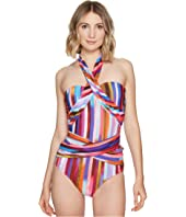 Kaliedostripe Ashlyn Molded Cup One-Piece