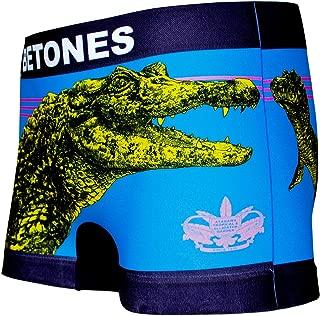 BETONES (ビトーンズ) メンズ ボクサーパンツ BANANA WANI BLUE dwearsステッカー入り ローライズ アンダーウェア ボーダー ブランド 男性 下着 誕生日 プレゼント
