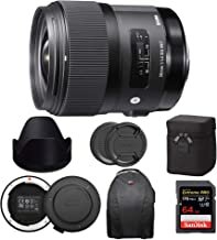 Sigma 35mm f/1.4 DG HSM Art Lens for Canon EF Bundle with USB Dock and 64GB Extreme PRO SD Card (4 Items)