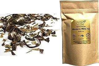 Beantown Tea & Spices - Blueberry White Tea. Gourmet Loose Leaf White Tea. Rich in Antioxidants. 100% Natural. (4 oz. (50 ...