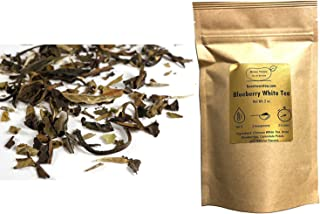 Beantown Tea & Spices - Blueberry White Tea. Gourmet Loose Leaf White Tea. Rich in Antioxidants. 100% Natural. (4 oz. (50 Servings))