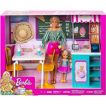 Barbie GBK87 Dolls and Gelato Cafe Playset