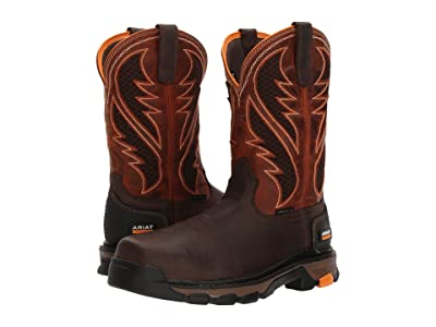 Ariat Intrepid Venttek (Bruin Brown/Sassy Orange) Men