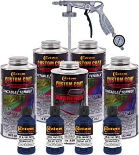 Custom Coat - Federal Standard Color# 35048 Navy Blue T87 - Camouflage Series Urethane Spray-On Truck Bed Liner & Texture Coating, 0.875 Gallons - with Applicator Spray Gun