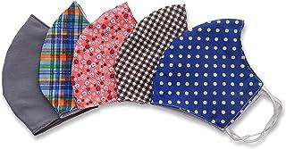 Stylish Fashionable Design Cotton Face Masks PACK OF 5 Fit Large to Extra Large face Unisex reusable Washable masks comfortable breathable