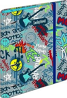 Carpeblock 4 Anillas Smiley Rebel | Carpeta Archivador 4 Anillas A4 Escolar con Goma, Carpeta Clasificadora Anillas Juvenil con Tapa Dura de Cartón de Gran Calidad - Medidas 27,5 x 32 x 5 cm